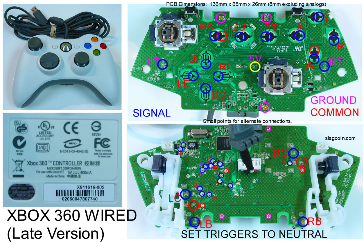 Xbox Joystick Wiring Diagram | Wiring Diagram on