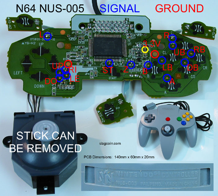N64 Controller Wiring Diagram from slagcoin.com