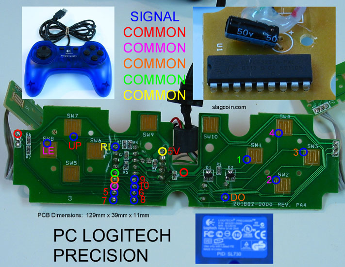joystick controller pcb and wiring