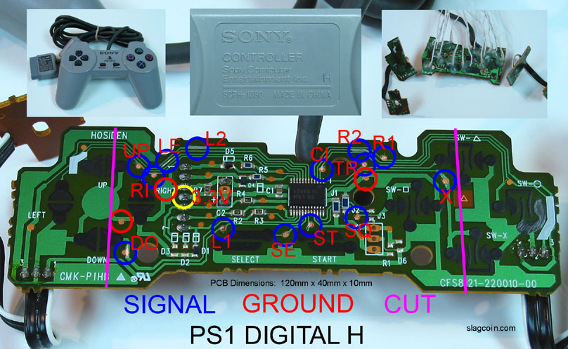 joystick controller pcb and wiring gamecube controller cable